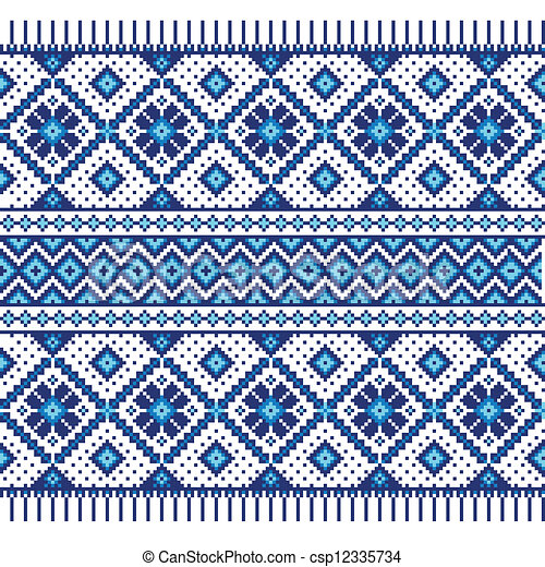Ethnic ornament, seamless pattern - csp12335734