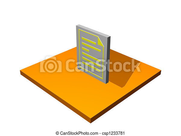 Clipart Of Purchase Order 3d Collection Series In Orange