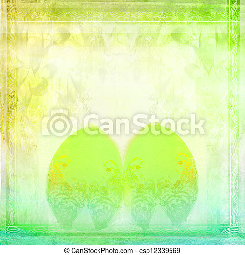 Easter Egg On floral Background  - csp12339569