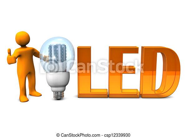 Orange LED OK - csp12339930