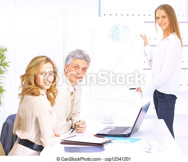 A group of good businessmen discus - csp12341201