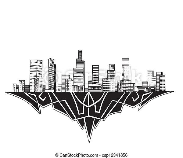 Vector Los Angeles CA Skyline Stock Illustration Royalty Free