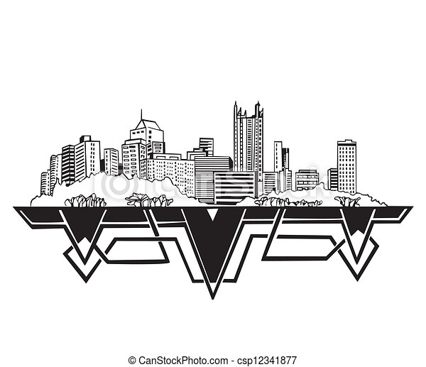 Pittsburgh Skyline Drawing Pittsburgh pa Skyline