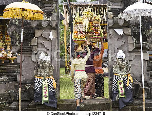 Temple ritual - csp1234718