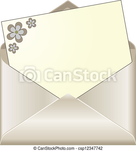 vecteur eps de ouvert envelopper floral papeterie ouvert enveloppe csp12347742. Black Bedroom Furniture Sets. Home Design Ideas