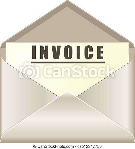 How To Create Invoices In Quickbooks Clipart Of Invoice Bill Due Mailed Letter Envelope Notice Reminder  Automotive Invoice Software Word with Star Tsp100 Receipt Paper Pdf Envelope With Invoice Document  Sample Rent Invoice Word