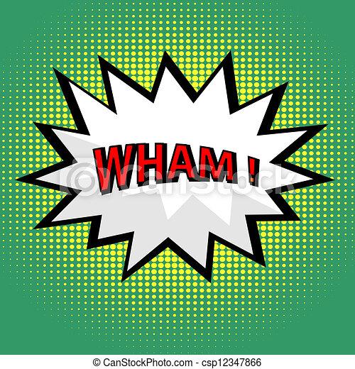 Wham! comic cloud in pop art style - csp12347866
