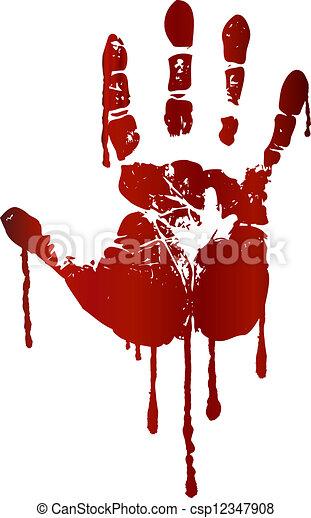 Bloody hand print - csp12347908
