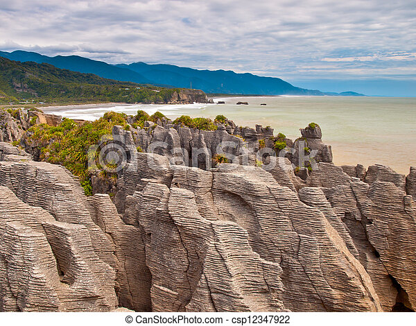 Sedimentary Rocks New Zealand - csp12347922