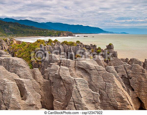 Sedimentary Rocks New Zealand - csp12347922