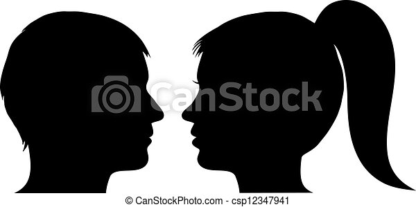 Woman Profile Logo Man And Woman Face Profile
