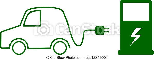 Vector Clipart Of Electric Car Concept Search Clip