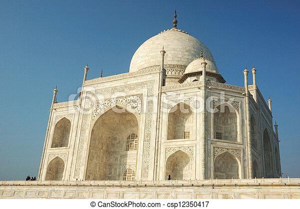 Taj Mahal in Agra  - famous landmark in Uttar Pradesh, India  - csp12350417