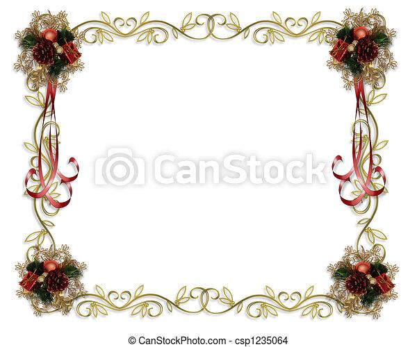 Christmas Frame Fancy Border - csp1235064