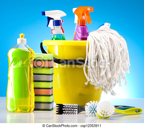 Stock photography of house cleaning variety of cleaning for House cleaning stock photos