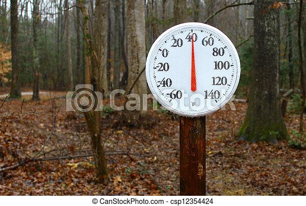 stock foto a neu drau en fruehjahr thermometer stange lesende drau en winter. Black Bedroom Furniture Sets. Home Design Ideas