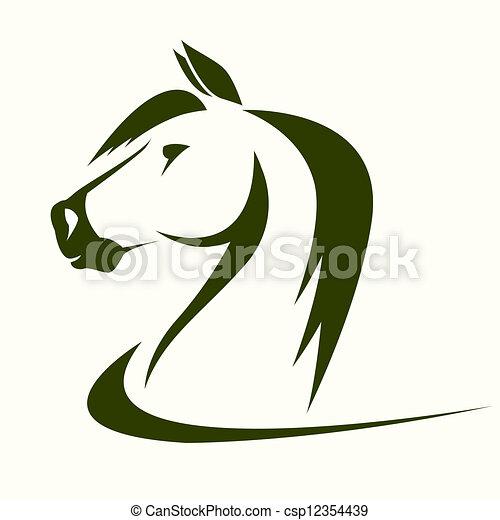 Vecteurs de t te vecteur cheval vector t te cheval sur a fond csp12354439 - Tete de cheval dessin ...
