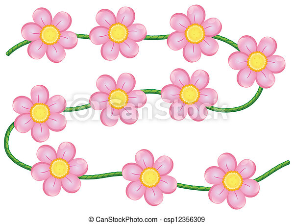 Vines Flowers Vector Vector Vine Flowers