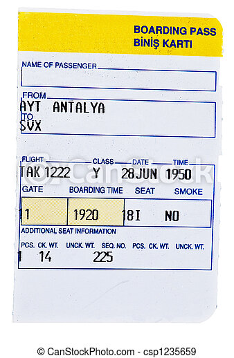 Boarding pass - csp1235659