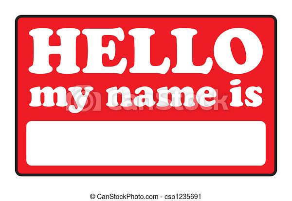 Hello My Name Is Tags - csp1235691