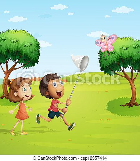 мультик ловить бабочек