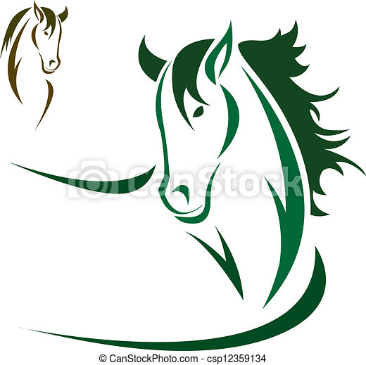 Vector head of horse - csp12359134