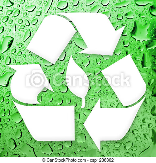 Going Green Recycling - csp1236362