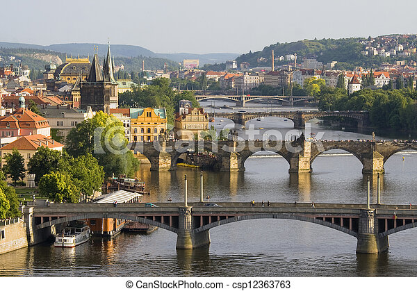 Bridges in Prague - csp12363763