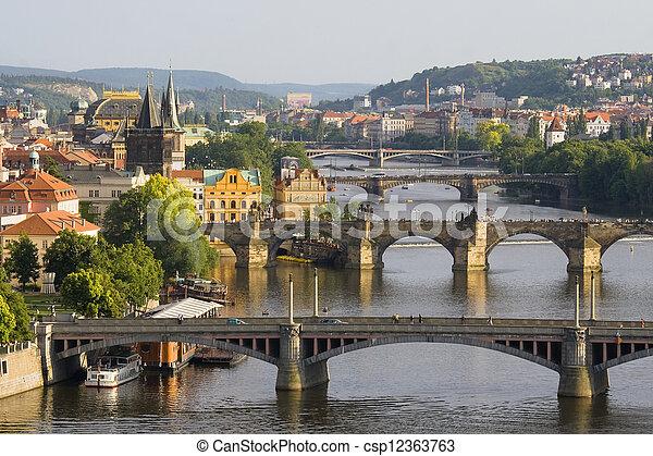 Bridges in Prague - csp12363763