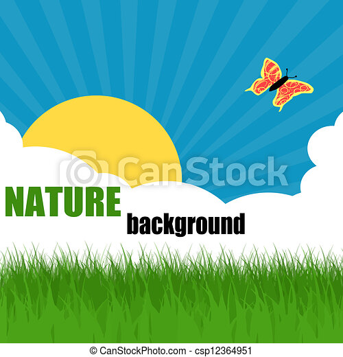 Nature ecology poster - csp12364951