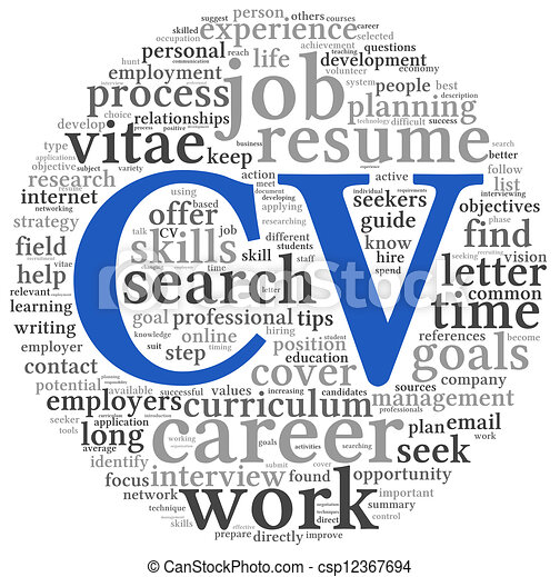 Stock Illustration Of Curriculum Vitae Concept In Word Tag