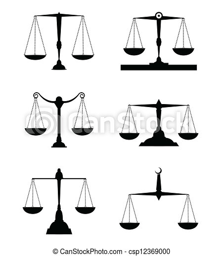 Justice scale Vector Clipart Royalty Free. 4,531 Justice scale ...