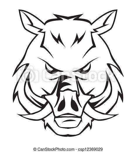 Vector Illustration Of Wild Boar Csp12369029 Search