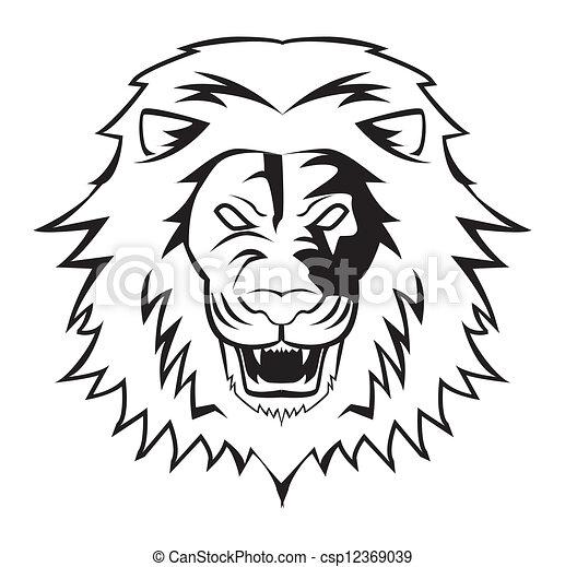 Vecteurs de lion csp12369039 recherchez des images - Tete de lion dessin facile ...
