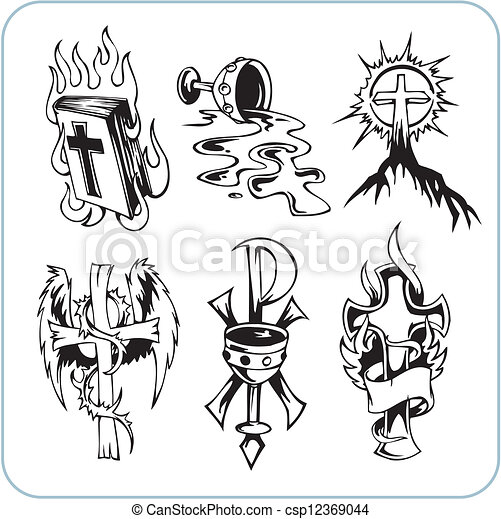 Christian Religion - vector illustration. - csp12369044
