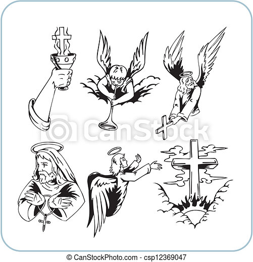 Christian Religion - vector illustration. - csp12369047