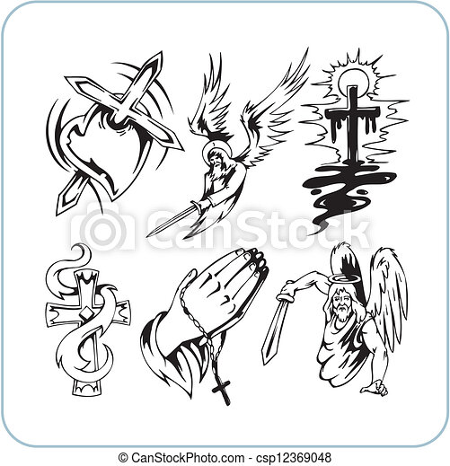 Christian Religion - vector illustration. - csp12369048