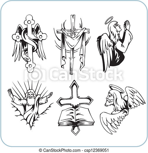Christian Religion - vector illustration. - csp12369051