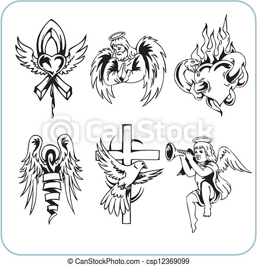 Christian Religion - vector illustration. - csp12369099