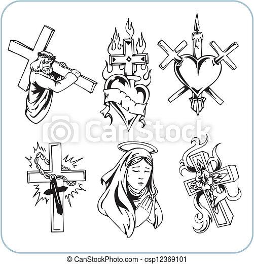 Christian Religion - vector illustration. - csp12369101