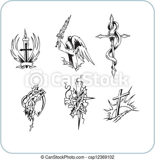 Christian Religion - vector illustration. - csp12369102