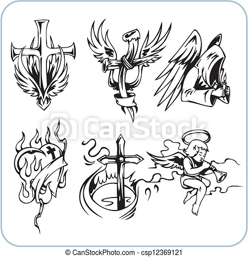 Christian Religion - vector illustration. - csp12369121