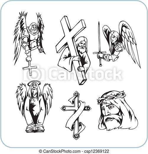 Christian Religion - vector illustration. - csp12369122