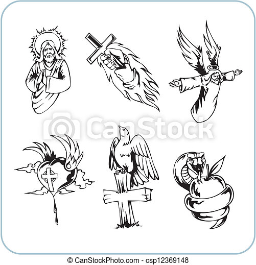 Christian Religion - vector illustration. - csp12369148