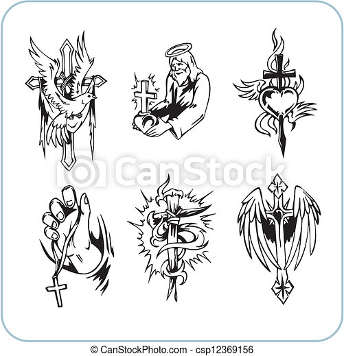 Christian Religion - vector illustration. - csp12369156