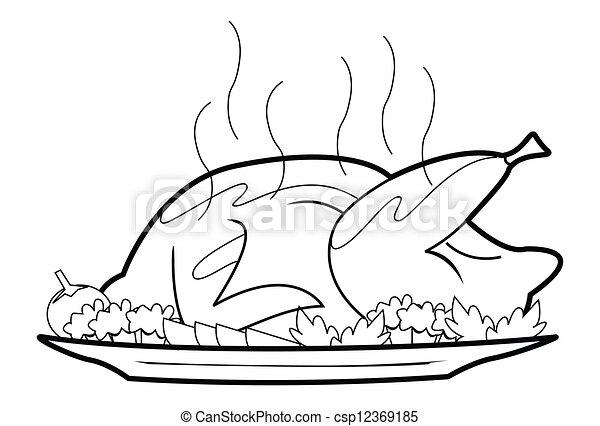 asado, pollo - stock de ilustracion, ilustracion libre de, stock de