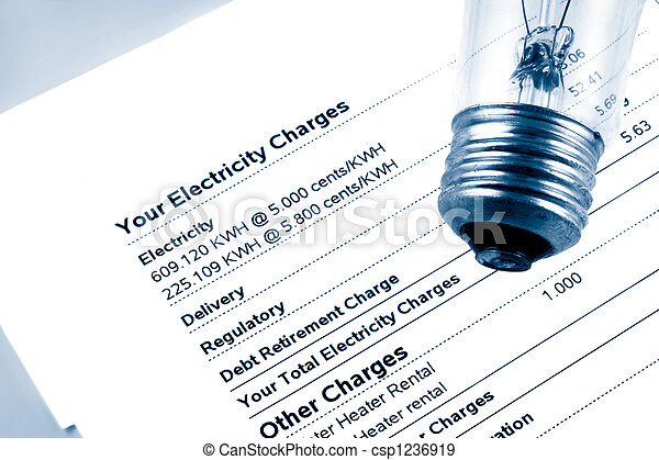 electricity bill - csp1236919