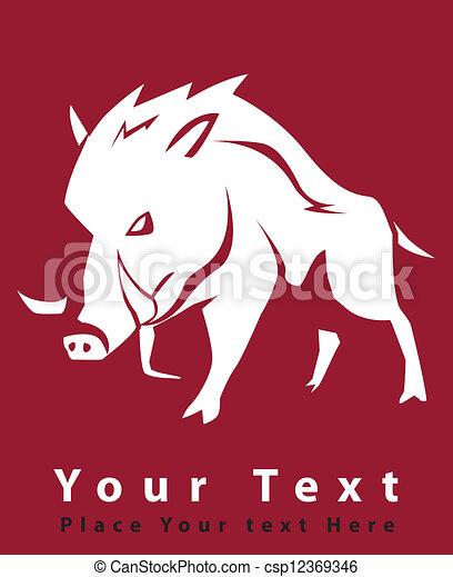 wild boar symbol - csp12369346