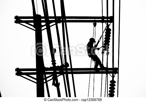electricity clip art with Silhouette Electrician Working On 12369768 on 503245387 likewise Silhouette Electrician Working On 12369768 together with Electricity pole further Fossil fuels clipart likewise Thunder.