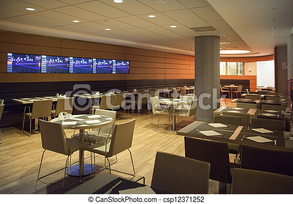 Banco de imagens de interior restaurante modernos for Planos de restaurantes modernos